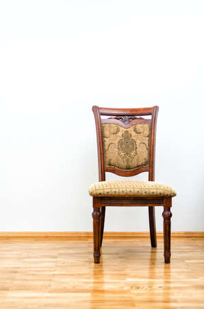 Interior with classic chair on wooden floor photo