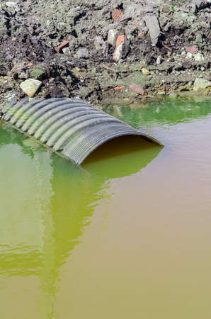 pollution water: Dirty water stems from the pipe