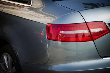 shiny car: Back view of shiny car headlight