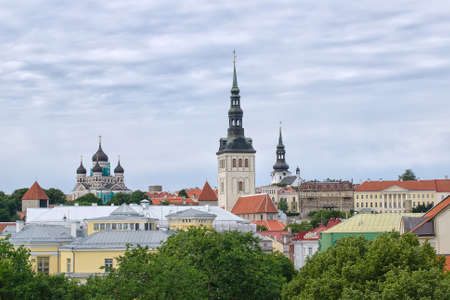 Panoramic view of Tallinn old town photo