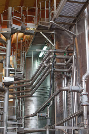 Wine manufacturing  Modern winery tanks  photo