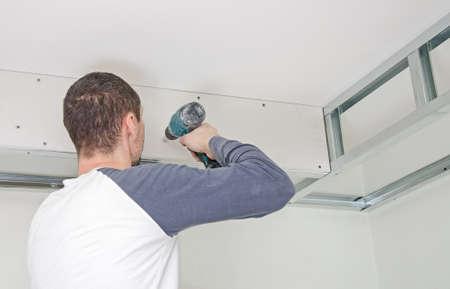 ビルダー実装石膏石膏ボード壁にフレーム