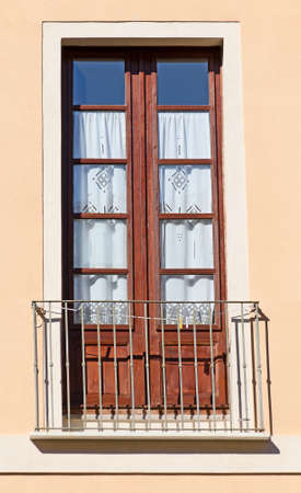 Old italian balcony  Stock Photo
