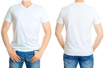 分離された t シャツ ホワイト白の男 写真素材 - 29174071