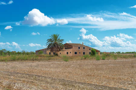 Spanish medieval country house. Place for your text. photo