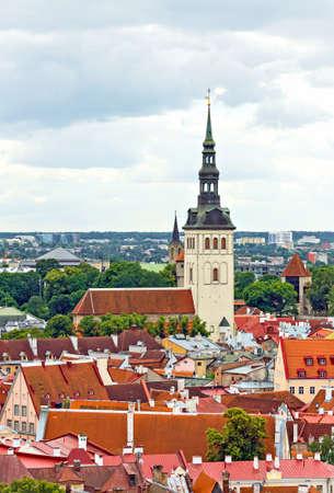 'saint nicholas': Saint Nicholas church in old Tallinn. Stock Photo