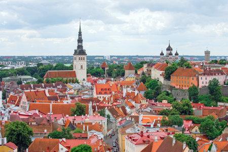 tallinn: Panoramic view of old Tallinn, Estonia.