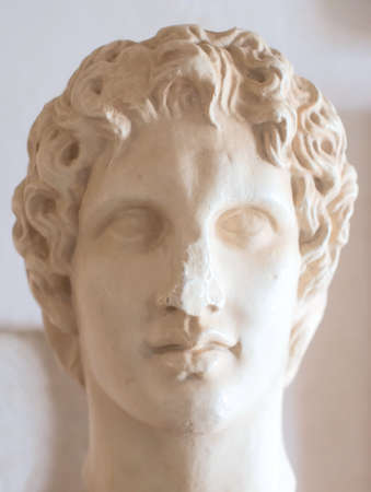 alexander the great: Ancient bust of Alexander the Great in museum.