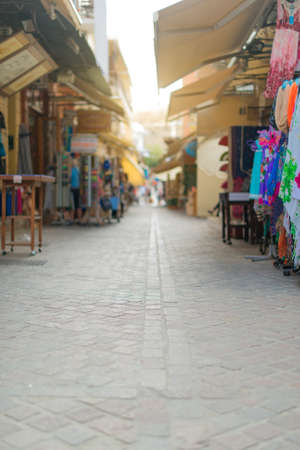 traditional goods: Traditional mediterranean street with goods.