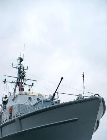 wojenne: Patrol ship with radar and gun. Zdjęcie Seryjne