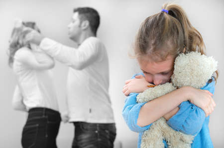 quarrel: Parents quarreling at home, child is suffering.