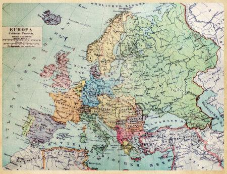 Mapa histórico de la vieja Europa. 1900 años. Foto de archivo - 58641971