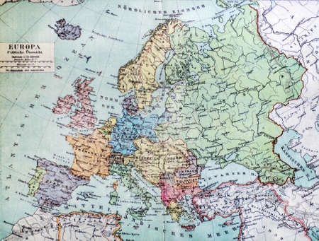 cartographical: Historical map of old Europe. 1900 years.