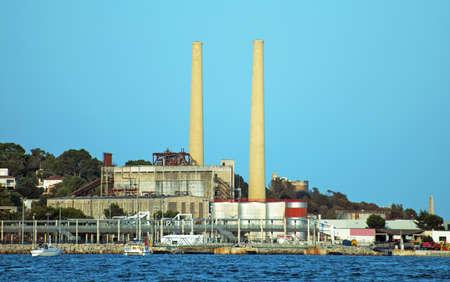 powerhouse: Old power station in Port de Alcudia.