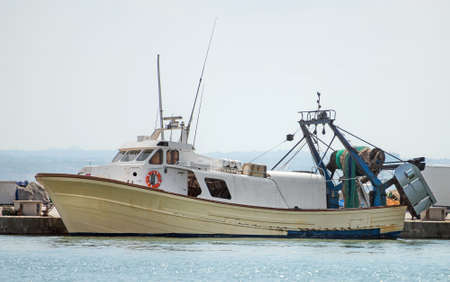 commercial fisheries: Fishing vessel in the port.