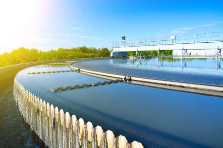turbidity: Modern urban wastewater treatment plant.