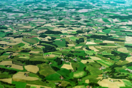 satelite: Aerial view of farmlands in Germany. Stock Photo