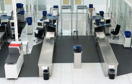 safekeeping: Airport security check in passenger terminal.