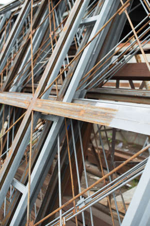 reinforcing: Close-up view of reinforcement steel bars.