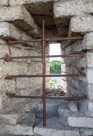 lattice window: Window with a lattice in the castle.
