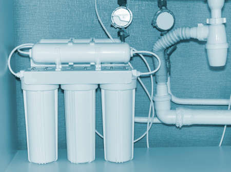 reverse: Reverse osmosis water purification system.