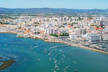 Aerial view of Faro, Algarve, Portugal. Foto de archivo - 90880698