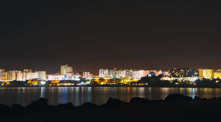 Night Portimao from the sea side.