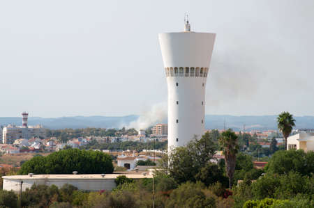 fireplace: Fire in Portim�o city in Portugal. Stock Photo