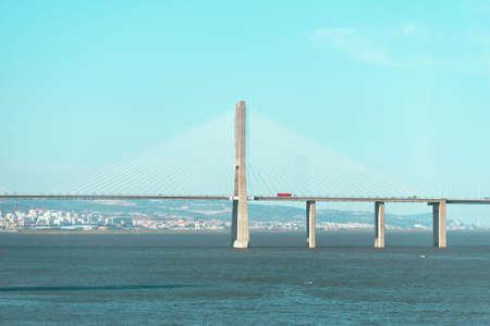 Vasco da gama bridge in Lisbon, Portugal.