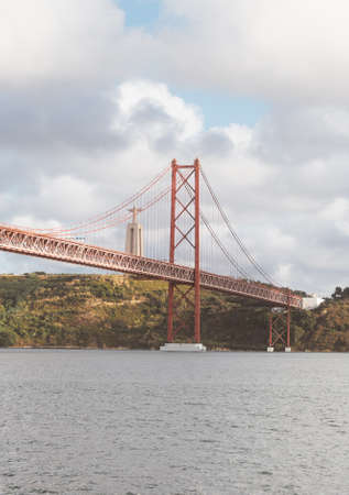Bridge of 25th april in Lisbon. Editorial