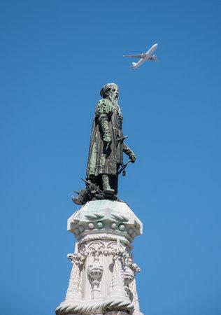 Vasco Da Gama Statue. Afonso de Albuquerque Square,Belem, Portugal.