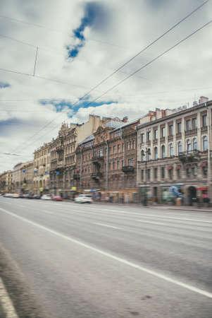 Nevsky Prospect street at Sankt-Petersburg in Russia. Stock Photo