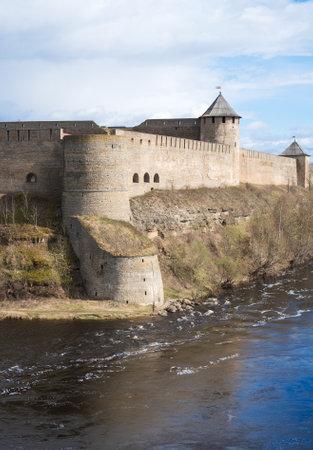 Ivangorod Fortress. View from Estonian side.