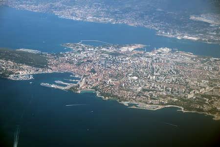 Aerial view of Split city in Croatia.