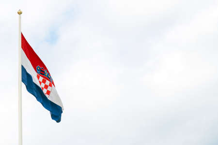 National flag of Croatia. Place for text.