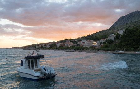 Duce village on sunset in Croatia.