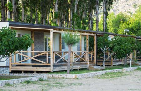 Case in affitto sulla costa mediterranea. Archivio Fotografico