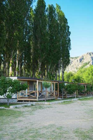 Houses for rent on the Mediterranean coast. Archivio Fotografico
