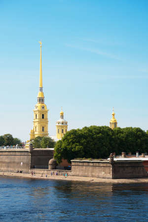 Peter and Paul Fortress in St. Petersburg, on the Hare Island.
