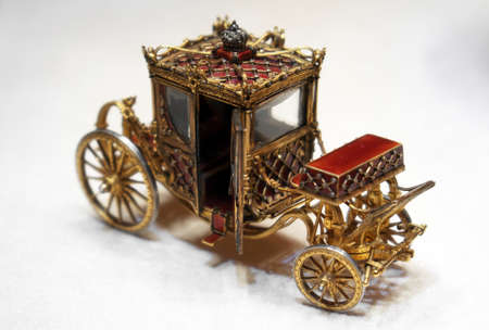 An exact copy of the Faberge carriage in the museum.
