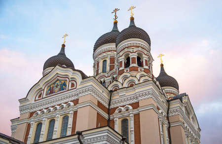 Alexander Nevsky Cathedral in old Tallinn.
