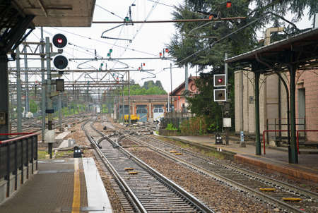 Old railroad station in Northern Italy.
