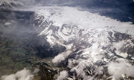 Glaciers in the mountains of the Alps. Reklamní fotografie