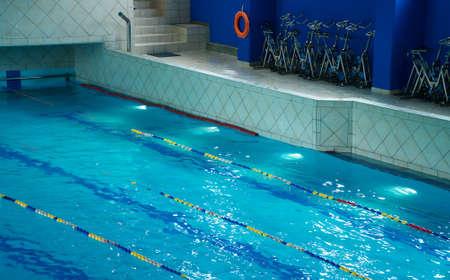 Walkways in the swimming pool.