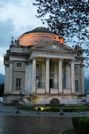 Volta Temple museum in Como, Italy. Tempio Voltiano.
