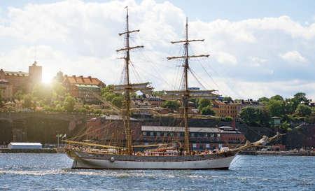 Old vessel in the center of Stockholm. 写真素材