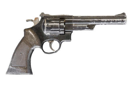 Revolver pistol isolated on white background. Фото со стока
