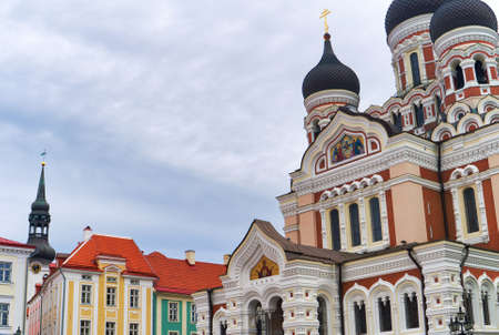 View of the Alexander Nevsky Cathedral in Tallinn.
