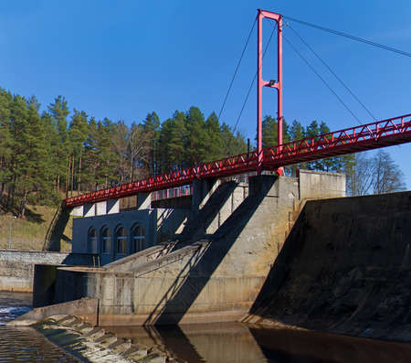 Small hydroelectric power station in Estonia.