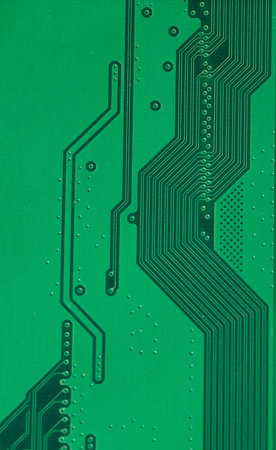 Macro photo of laptop  chip with space for writing